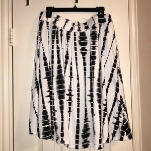 LuLaRoe Madison Skirt Tye Dye